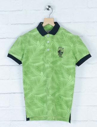 Gini and Jony printed green color t-shirt