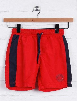 Gini and Jony red casual boys short