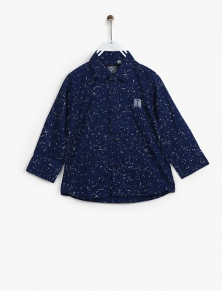 Gini and Jony royal blue casual shirt