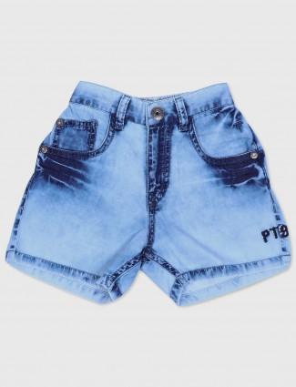 Gini and Jony sky blue denim casual wear shorts