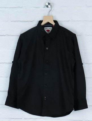 Gini and Jony solid black casual shirt