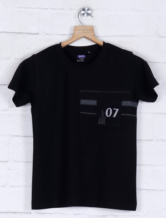 Gini and Jony solid black casual t-shirt