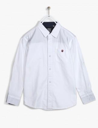 Gini and Jony solid white shirt