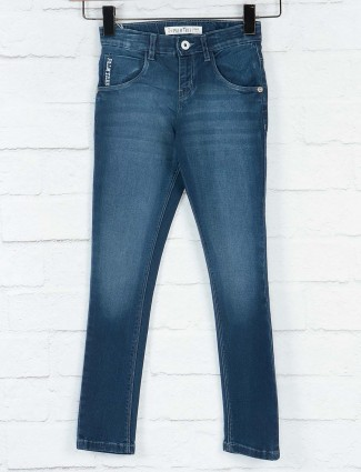 Gini and Jony strong blue solid jeans