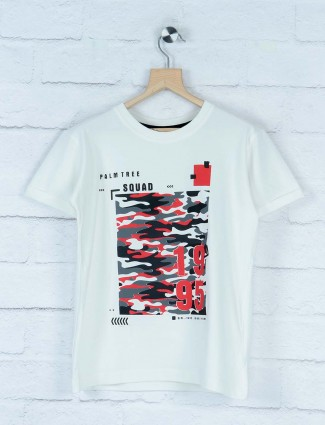 Gini and Jony white hue printed t-shirt