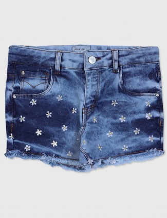 Gini and Jony navy blue color denim casual shorts