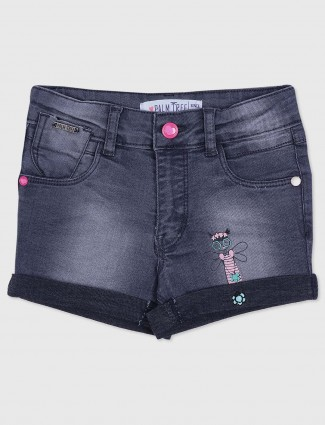 Gini and Jony grey color casual denim shorts
