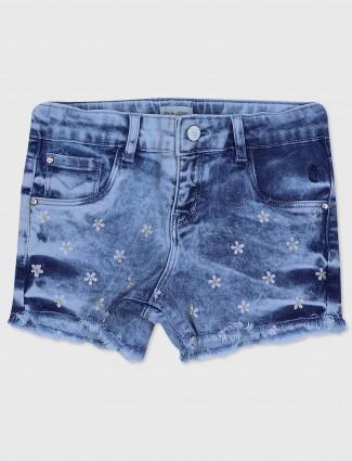 Gini and Jony sky blue denim casual shorts