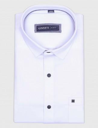 Ginneti ivory color white cotton shirt