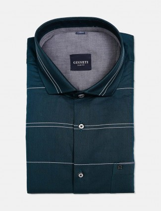 Ginneti rama green stripe shirt