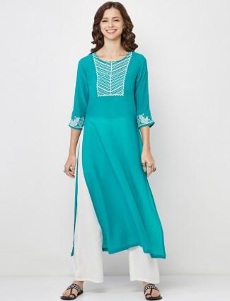 Global Desi green cotton kurti