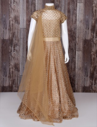 Golden color designer suit
