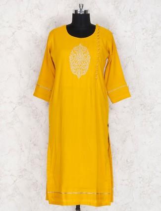 Golden hue cotton kurti
