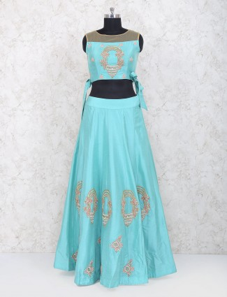 Gorgeous blue silk lehenga choli