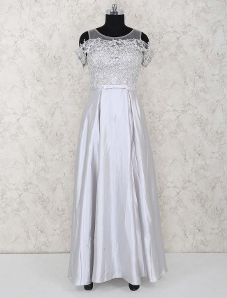 Gorgeous grey color gown