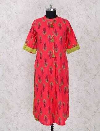 Gorgeous red cotton kurti