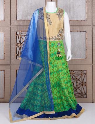 Green alluring silk lehenga choli
