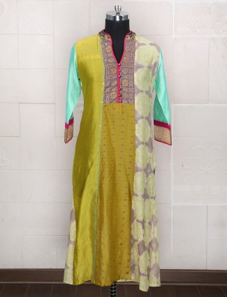 Green color silk palazzo suit for wedding