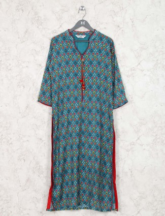 Green colored cotton kurti