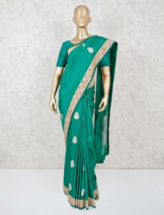 Green dola silk adorable saree