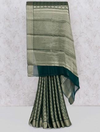 Green hue wonderful saree