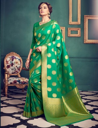 Green kanchivaram silk saree