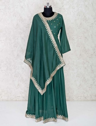 Green latest anarkali suit for wedding