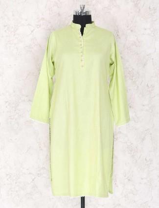 Green punjabi style salwar suit
