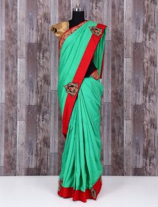 Green silk sober amazing saree