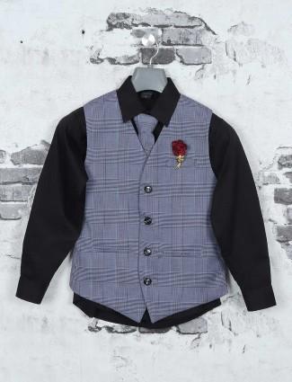 Grey and black waistcoat