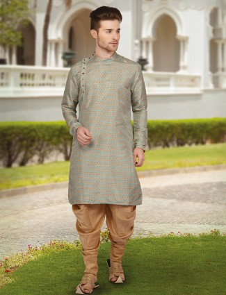 Grey awesome festive wear kurta suit