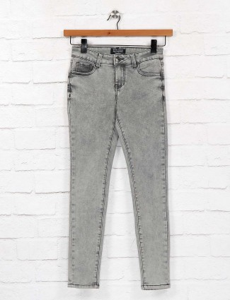 Grey color denim casual jeans