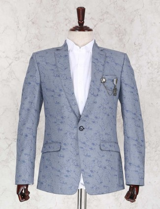 Grey color party wear blazer