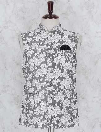 Grey color terry rayon fabric waistcoat