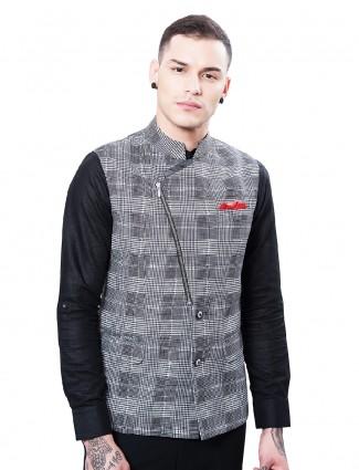 Grey color terry rayon waistcoat
