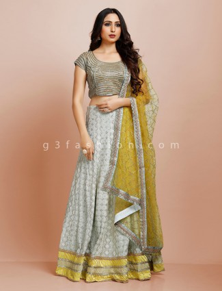 Grey designer georgette lehenga choli for party