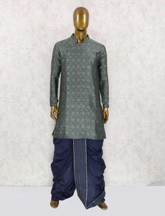 Grey fesrtive wear kurta suit