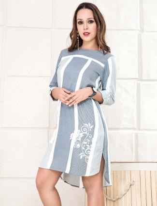 Grey hue cotton casual top