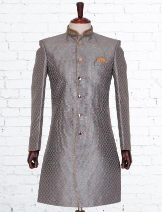 Grey silk deisgner indo western