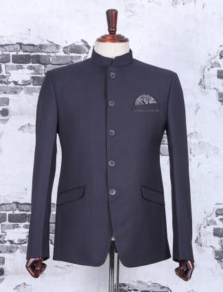Grey terry rayon jodhpuri wedding suit