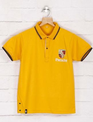 Gusto new style yellow boys t-shirt