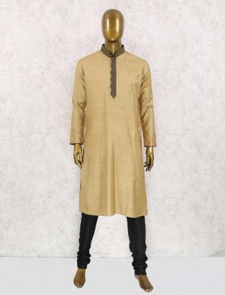 Haldi function beige kurta suit