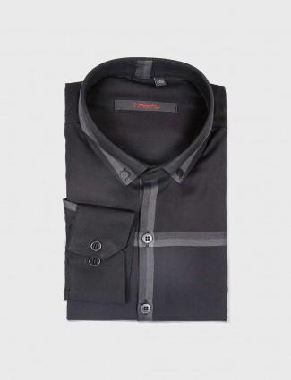 I Party black checks mens shirt
