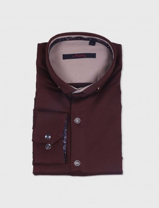 I Party brown cotton fabric shirt