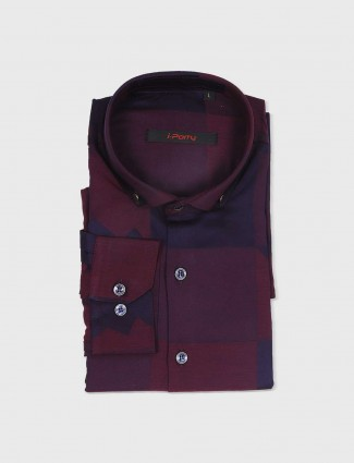 I Party maroon partywear shirt