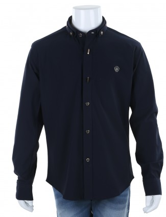 I party navy party wear hosiery cotton plain shirt for boys