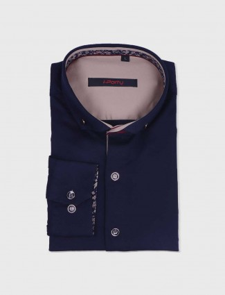 I Party navy solid shirt