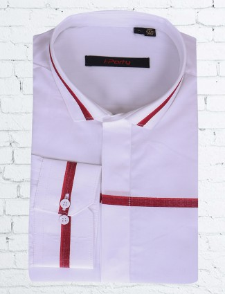 I Party white cotton shirt