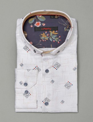 I Party white cotton shirt for mens