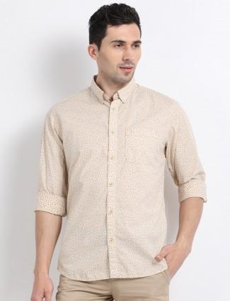 Indian Terrain beige printed shirt